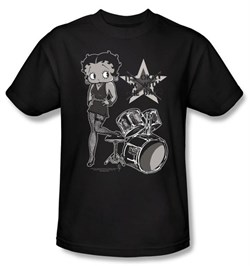Image of Betty Boop Kids T-shirt With The Band Youth Black Tee Shirt