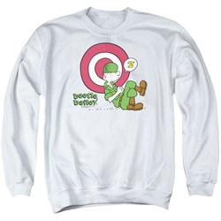 Image of Beetle Bailey Sweatshirt Target Nap Adult White Sweat Shirt