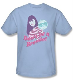 Image of Beverly Hills 90210 Kids T-shirt Don?t Be A Brenda Youth Blue Shirt