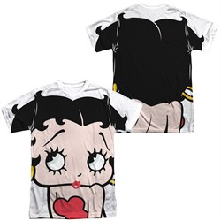 Betty Boop Big Boop Head Sublimation Shirt Front/Back Print