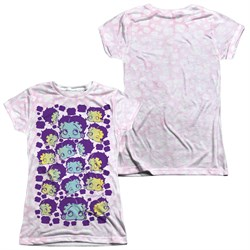 Image of Betty Boop Boop & Repeat Sublimation Juniors Shirt Front/Back Print