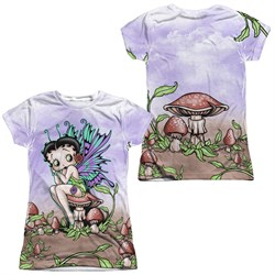 Betty Boop Fairy Sublimation Juniors Shirt Front/Back Print