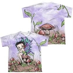 Betty Boop Fairy Sublimation Kids Shirt Front/Back Print