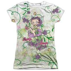 Betty Boop Flower Fairy Sublimation Juniors Shirt