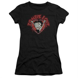 Image of Betty Boop Juniors Shirt Heart You Forever Black T-Shirt