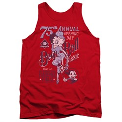 Betty Boop Juniors Tank Top Boop Ball Red Tanktop