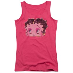 Betty Boop Juniors Tank Top Pop Art Boop Hot Pink Tanktop