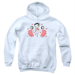Image of Betty Boop Kids Hoodie BB Dance White Youth Hoody