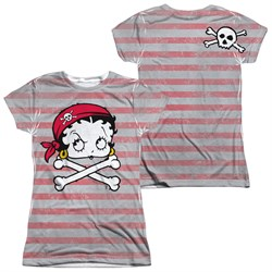 Image of Betty Boop Rrrr Boop Sublimation Juniors Shirt Front/Back Print