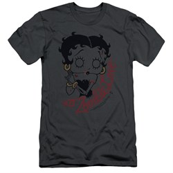 Image of Betty Boop Slim Fit Shirt Classic Zombie Charcoal T-Shirt