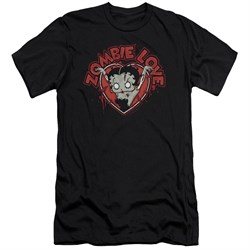 Image of Betty Boop Slim Fit Shirt Heart You Forever Black T-Shirt