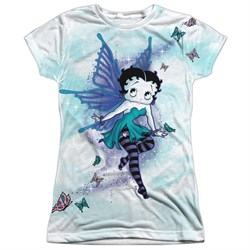 Betty Boop Sparkle Fairy Sublimation Juniors Shirt