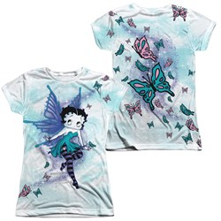 Betty Boop Sparkle Fairy Sublimation Juniors Shirt Front/Back Print