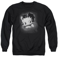 Image of Betty Boop Sweatshirt Vintage Star Adult Black Sweat Shirt