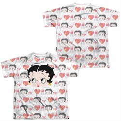 Image of Betty Boop Symbol Sub Sublimation Kids Shirt Front/Back Print
