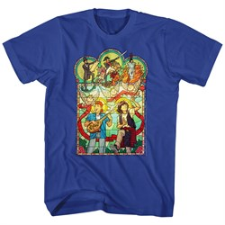 Image of Bill And Ted Shirt Stained Glass Royal Blue T-Shirt
