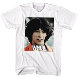 Image of Bill And Ted Shirt Woah White T-Shirt