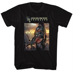 Bionic Commando Shirt The World Burn Black T-Shirt