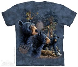 Image of Black Bears Shirt Tie Dye Adult T-Shirt Tee