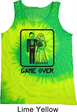 Image of Black Game Over Tie Dye Tank Top