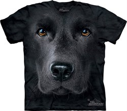 Image of Black Lab Shirt Tie Dye Dog Face T-shirt Adult Tee