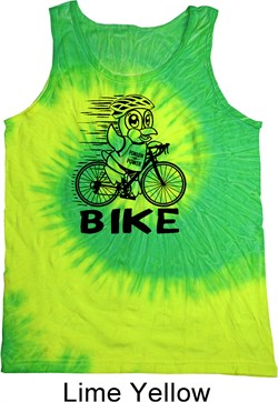 Image of Black Penguin Power Bike Tie Dye Tank Top