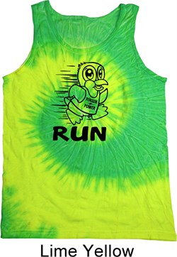 Image of Black Penguin Power Run Tie Dye Tank Top