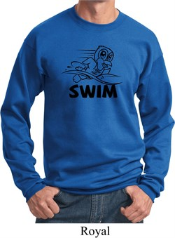 Image of Black Penguin Power Swim Sweatshirt