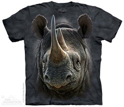 Image of Black Rhino Shirt Tie Dye Adult T-Shirt Tee