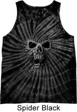 Image of Black Widow Tie Dye Tank Top