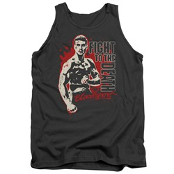 Image of Bloodsport Tank Top To The Death Charcoal Tee Tanktop