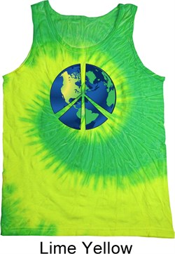Image of Blue Earth Peace Tie Dye Tank Top