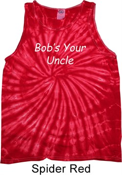 Image of Bob's Your Uncle Funny Tie Dye Tank Top