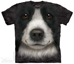 Image of Border Collie Shirt Tie Dye Adult T-Shirt Tee