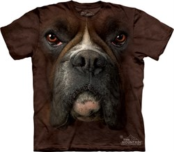 Image of Boxer Shirt Tie Dye Dog Face T-shirt Adult Tee