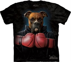 Image of Boxer Shirt Tie Dye Dog Rocky Boxing Adult T-shirt Tee