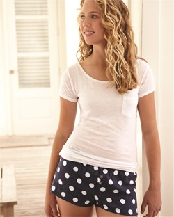 Image of Boxercraft Ladies Bitty Boxer Shorts - Spot on Navy