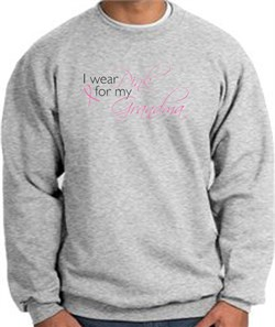 Image of Breast Cancer Sweatshirt I Wear Pink For My Grandma Athletic Heather