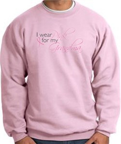 Image of Breast Cancer Sweatshirt I Wear Pink For My Grandma Pink