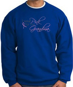 Image of Breast Cancer Sweatshirt I Wear Pink For My Grandma Royal
