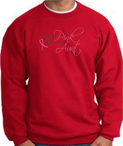 Image of Breast Cancer Sweatshirt I Wear Pink For My Aunt Red