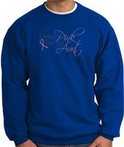 Image of Breast Cancer Sweatshirt I Wear Pink For My Aunt Royal