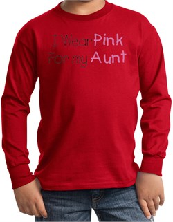 T-Shirt | Cancer | Sleeve | Pink | Long | Kid | Red