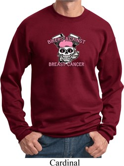 Image of Breast Cancer Awareness Bikers Against Breast Cancer Sweatshirt