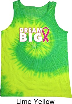 Image of Breast Cancer Awareness Dream Big Tie Dye Tank Top