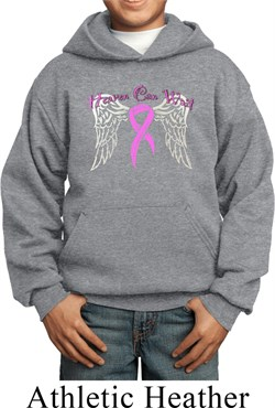 Image of Breast Cancer Awareness Heaven Can Wait Kids Hoody