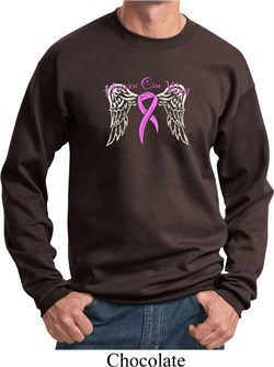 Image of Breast Cancer Awareness Heaven Can Wait Sweatshirt