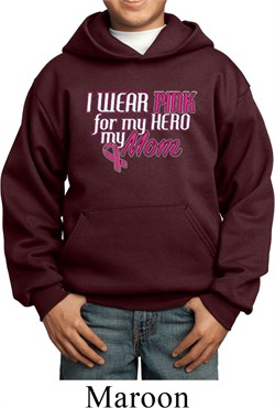 Image of Breast Cancer Awareness Pink for My Hero Kids Hoody