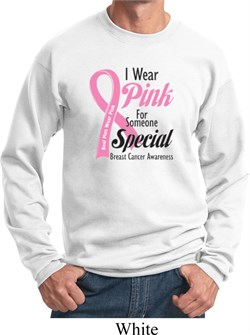 Image of Breast Cancer Awareness Pink For Someone Special Sweatshirt