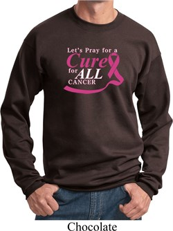 Image of Breast Cancer Awareness Pray for a Cure Sweatshirt